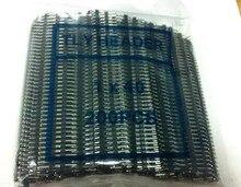 Envío Gratis 200 Uds 1*40P de una sola fila macho 1X40 tira de conectores de pines 2,54mm Iron Single Row macho