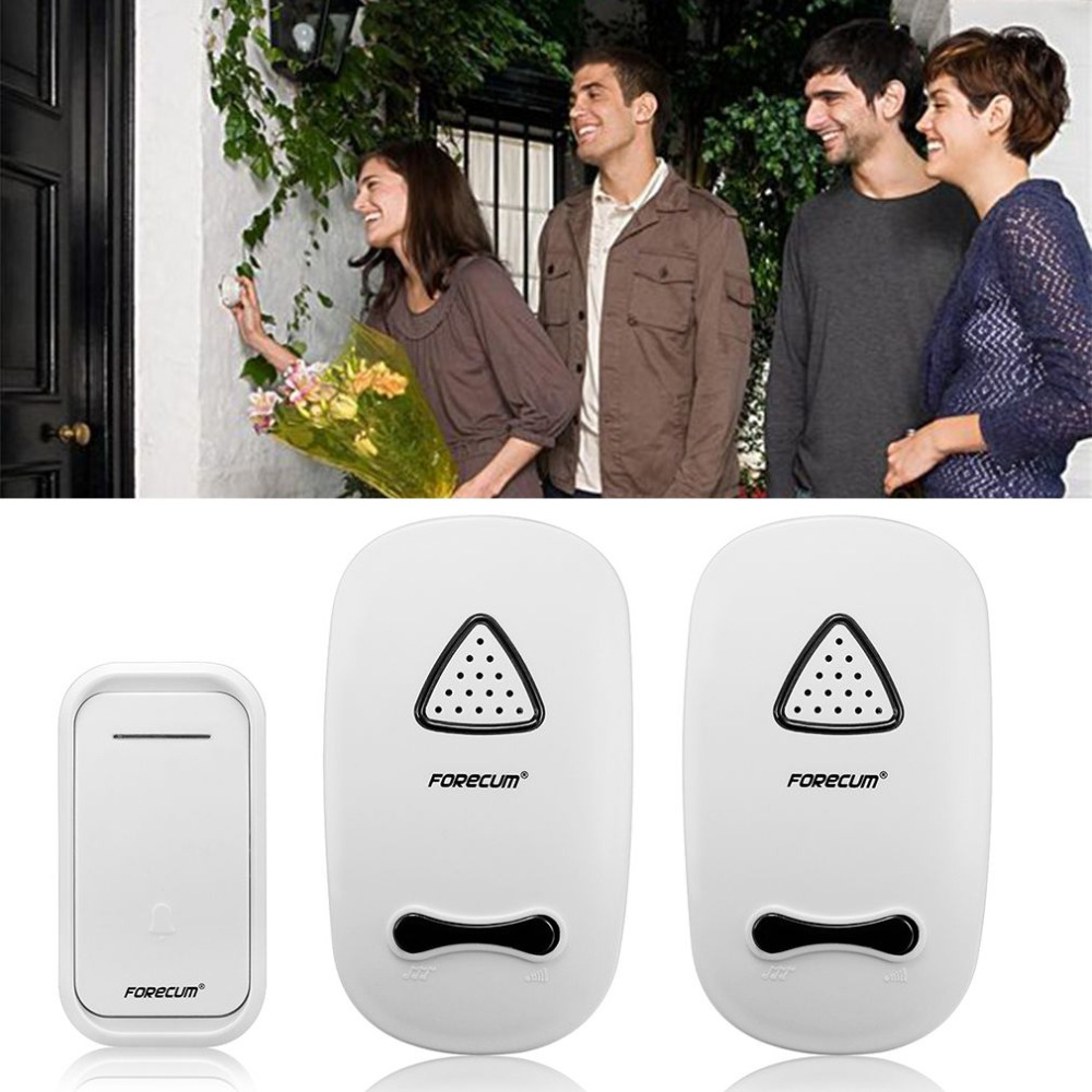 Forecum11f One For Two Professional Wireless Doorbell Smart Musical Circuit With Over Door Light Household Electronic Bell 36 Music Songs Eu Us Plug In Doorbells From Home Improvement On