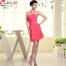 2017 Sexy Gowns Formales Dress Red Bridesmaid Dresses Mint Chiffon Short Party