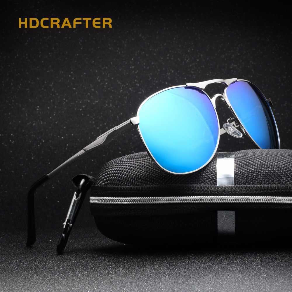45800a73c0 HDCRAFTER Men s Sunglasses Polarized Oval Glasses man Brand Designer Black Eyewear  Oculos Masculino Polarizado 2018