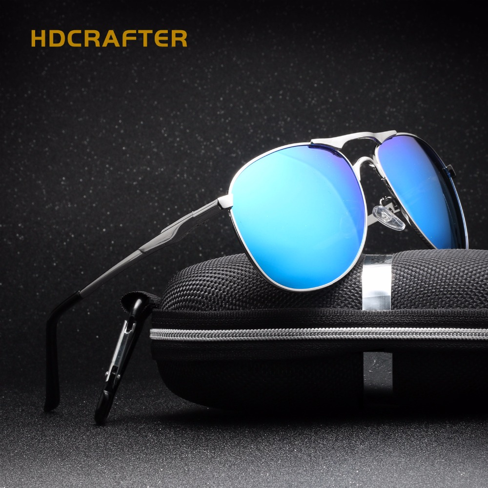 2016 HDCRAFTER Brand Designer Aviator Men s font b Sunglasses b font Polarized Glasses Eyewear Classical