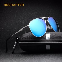 HDCRAFTER Oval Gafas hombre gafas de Sol Polarizadas de Los Hombres Gafas de Aviador Diseñador de la Marca Negro Polarizado Oculos Masculino 2018