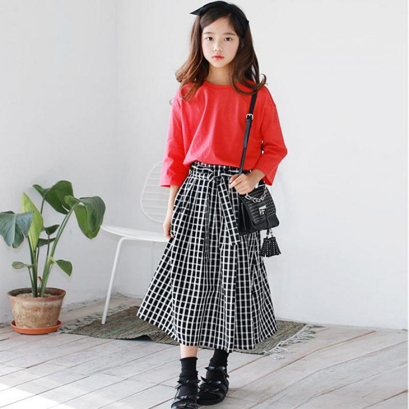 Kids Clothes 2019 Girls Clothing Sets Outfits 2 Pcs Toddler Girls Spring Clothing Set Teenager Student Costume T-shirts + SkirtsKids Clothes 2019 Girls Clothing Sets Outfits 2 Pcs Toddler Girls Spring Clothing Set Teenager Student Costume T-shirts + Skirts