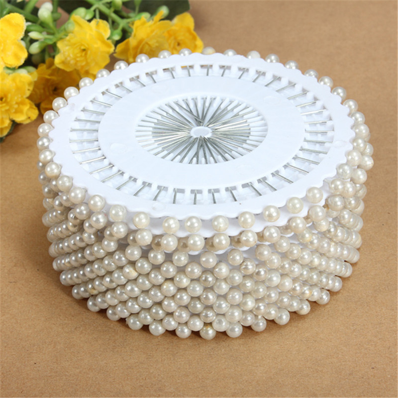 Hot Sale 35mm 480Pcs White Round Head Dressmaking Pearl Decorating Sewing Pin Craft For Home Garden DIY Crafts Tool Accessories