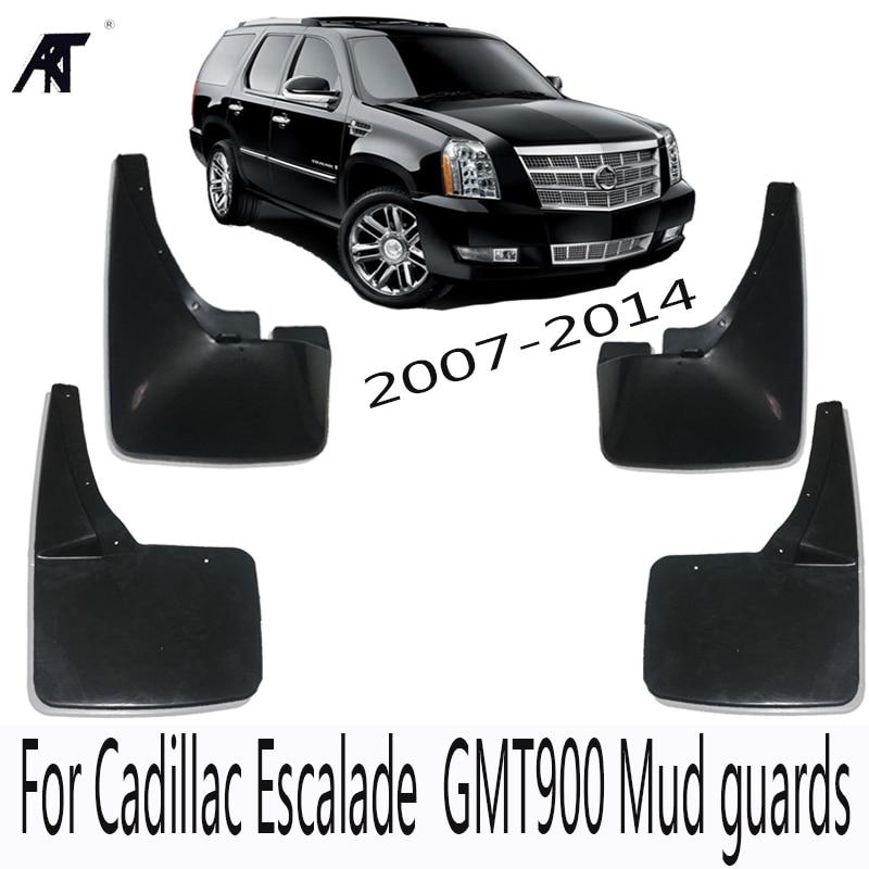 Mud Flap Car Mud Flaps For Cadillac Escalade 2007-2014 GMT900 Mudguards Fender 2008 2009 2010 2011 2012 Mudflaps Splash Guards