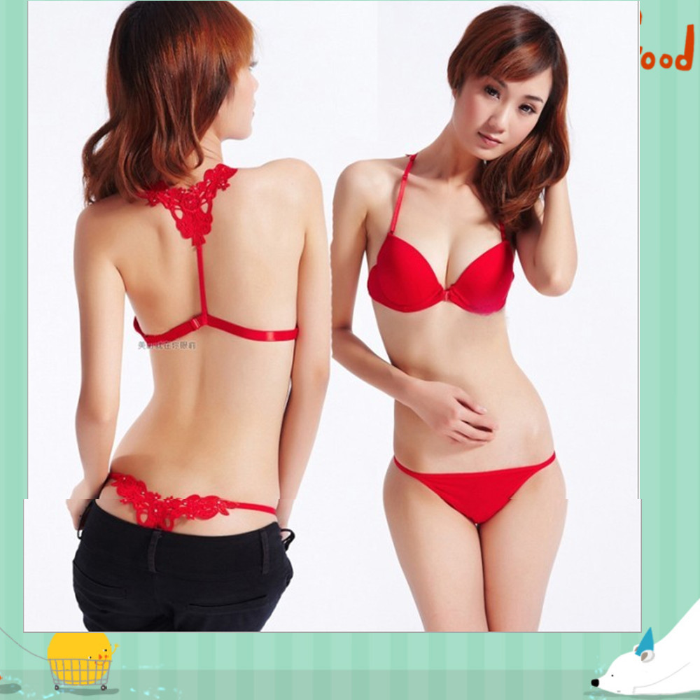 Front Closure Cute Girl Sexy Bra Set Underwear Beautiful -9051