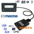 Yatour Автомобиль Цифровой Музыки Чейнджер USB AUX MP3 адаптер Для Mazda 3/5/6/Miata/MX5 MPV 2003-2008 yt-m06