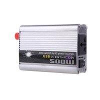 Auto Converter Modified Sine Wave Car Accessories Inverter DC24V To AC220V 500W Car Voltage Transformer USB