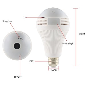 Image 5 - INQMEGA 360 Degree LED Light 960P Wireless Panoramic Home Security Security WiFi CCTV Fisheye Bulb Lamp IP Camera Two Ways Audio