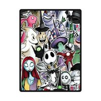 Custom Flannel Blankets Design The Nightmare Before Christmas Blanket, Fashion Warm Cozy Soft Sofa Bed Blankets Throws Blankets