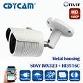 SONY IMX323 + HI3516C 2-МЕГАПИКСЕЛЬНАЯ Ip-камера 1080 P Full HD ip-камера открытый p2p Ночного Видения Водонепроницаемая Камера ВИДЕОНАБЛЮДЕНИЯ ИК-CUT, ONVIF 2.4
