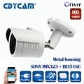 SONY IMX323 + HI3516C 2MP IP Camera 1080P Full HD camera IP outdoor p2p  Night Vision Waterproof CCTV  Camera IR-CUT,ONVIF 2.4