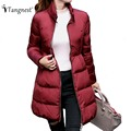 TANGNEST Women Cute Elegant Coats 216 New Winter Warm Loose Fashion Stand Collar Down Coat A-Line Parka WWM1587