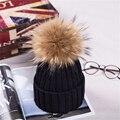 Venda quente Bola De Pêlo Chapéus das Mulheres de Veludo de Malha Cap Pom Pom Chapéu morno do Inverno Para a Menina Moda Feminina Skullies Gorros Cap Fêmea chapéu