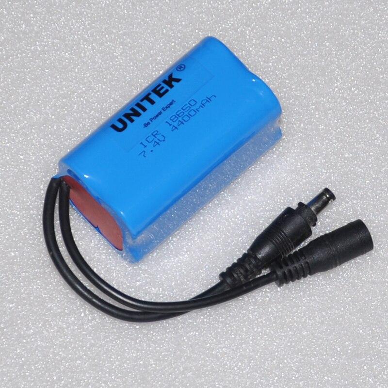 7.4 В аккумуляторная 18650 литий-ионный аккумулятор литий-Pack 4400 мАч защищен для громкоговоритель аудио усилитель мощности лихорадка одежда с п…
