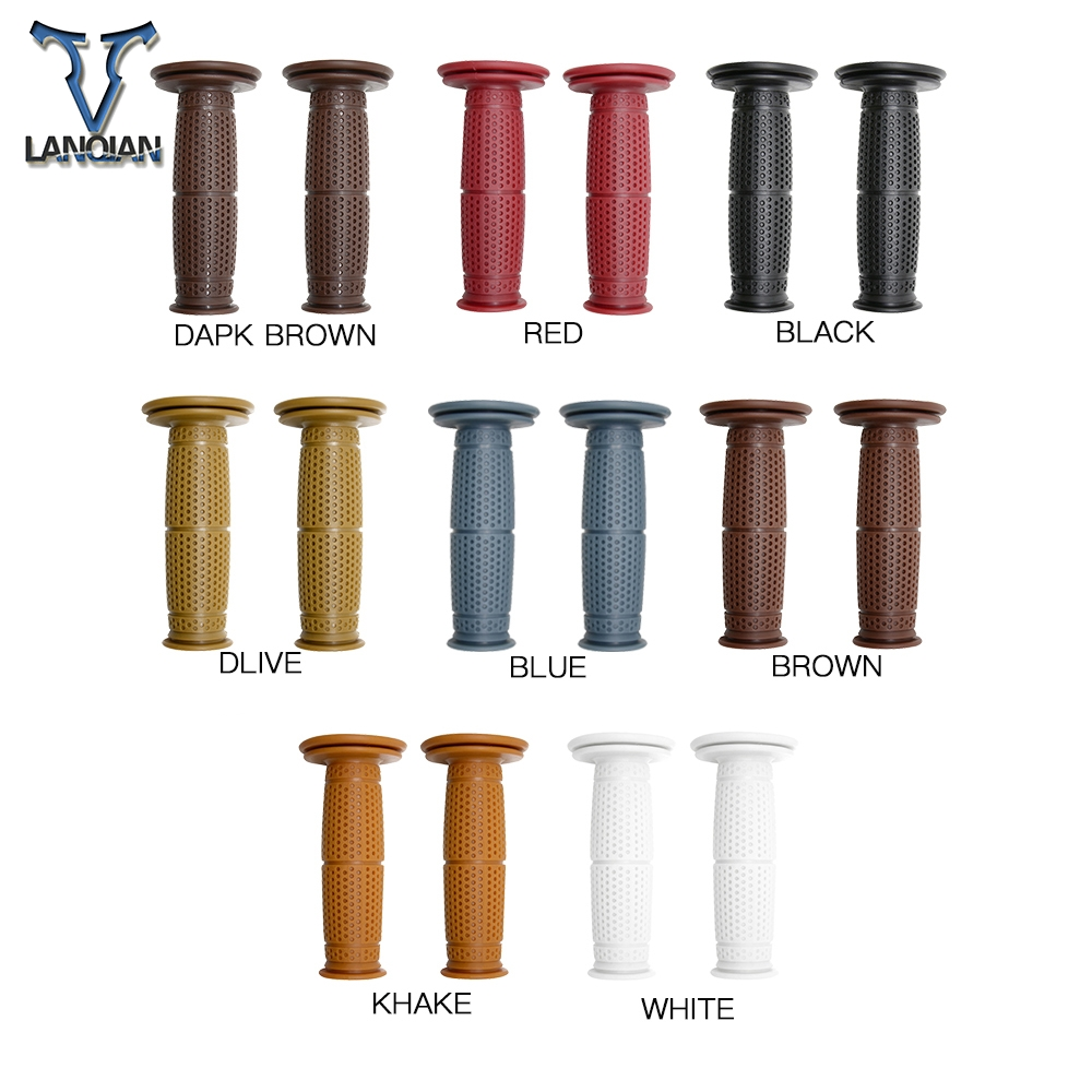 Image 2 - 7/8''22MM Motorcycle Handlebar Grips Retro Hand Bar For TRIUMRH 675 CALLE STREET TRIPLE R RX AMERICA LT BONNEVILLE SE T100 Black-in Grips from Automobiles & Motorcycles