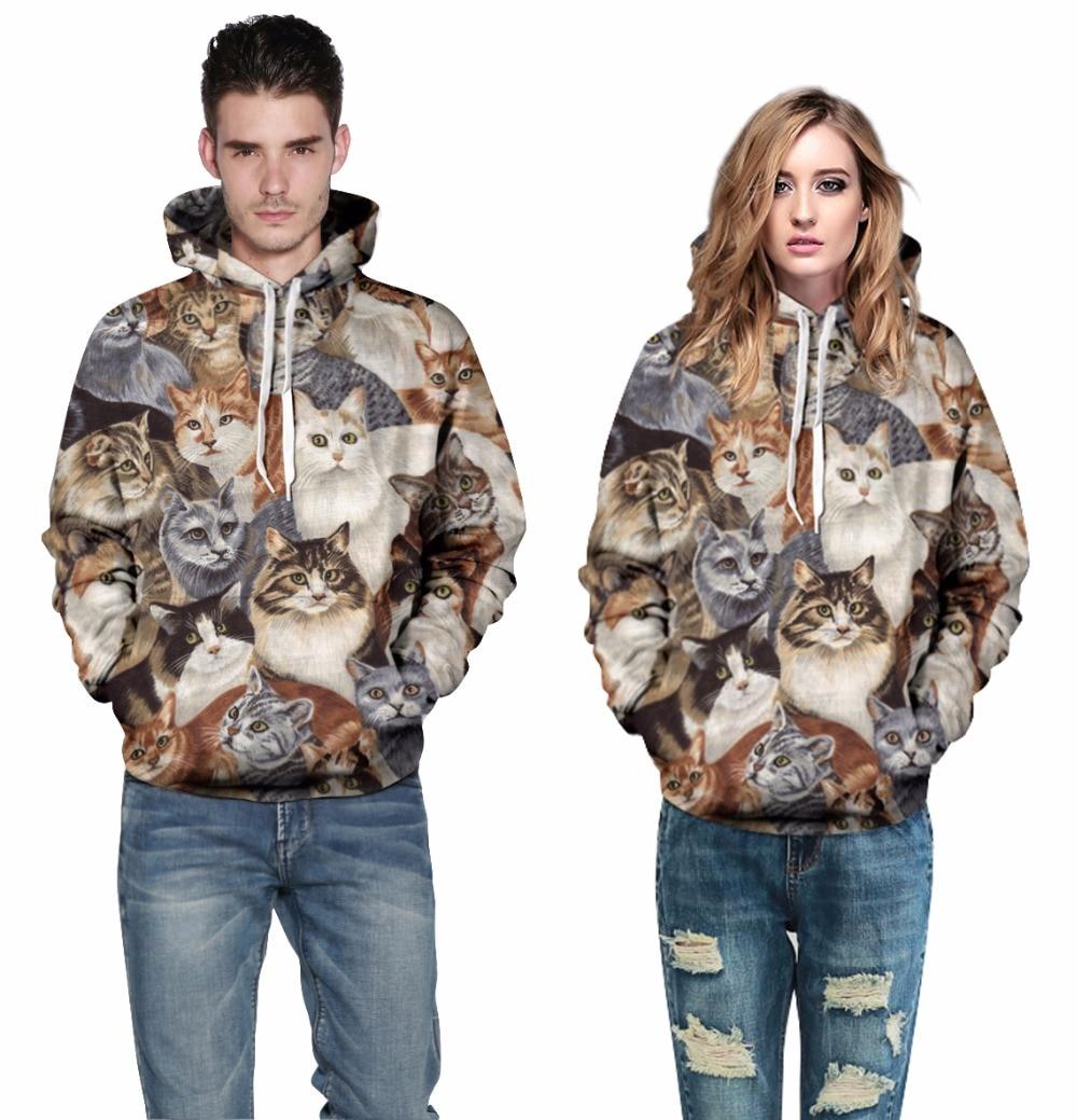 698fec5cf710 Plus Size 3XL Harajuku Style Men Women 3D Pullover Hoodies Printed Cats  Graphic Sweatshirt Sweat Hooded Lovers Tracksuit Tops-in Hoodies    Sweatshirts from ...
