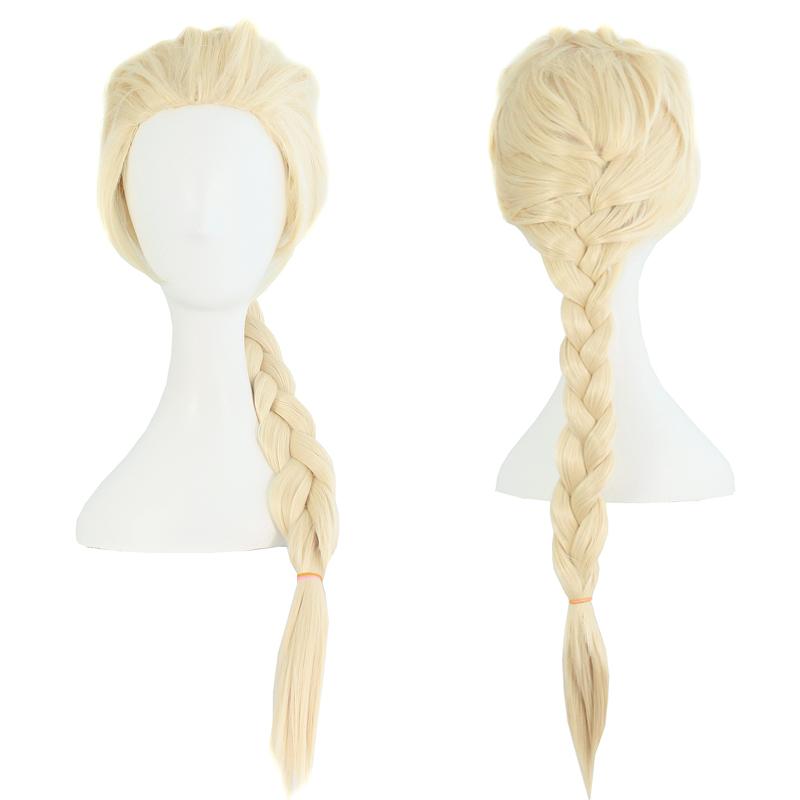 """mapofbeauty 28 """"длинные плетеные косплэй парики искусственные серебряный коричневый белый эльза и анна парик костюм партии поддельные теплоизоляционный синтетические волосы"""