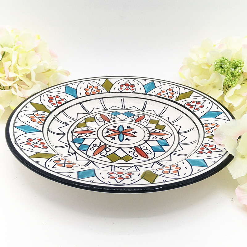 Hand Painted Flower Pattern Ceramic Steak Plate Fast Food Tray Dinner Plate Dishes Restaurant Dinnerware Christmas Gift 1pcs-in Dishes \u0026 Plates from Home ...  sc 1 st  AliExpress.com & Hand Painted Flower Pattern Ceramic Steak Plate Fast Food Tray ...