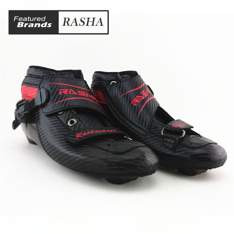 Prix pour Noir Couleur inline vitesse de patinage boot Professionnel enfant adulte patins à roulettes femmes hommes vitesse patins