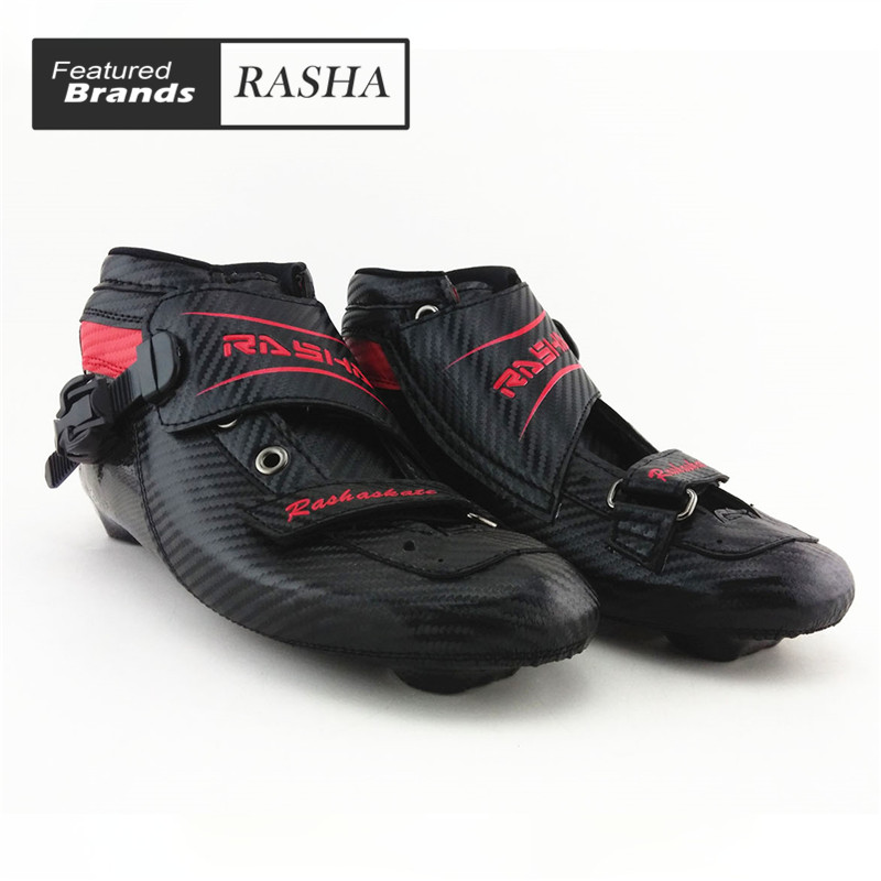 black Color inline speed skating boot Professional adult child roller skates women men speed skates professional roller shoes speed roller inline skates speed skating roller skates 4 inline wheels