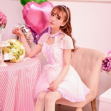 Princess sweet lolita dress Candy rain Spring summer new Japanese style Sweet temperament stand collar lace dress C15AB5681