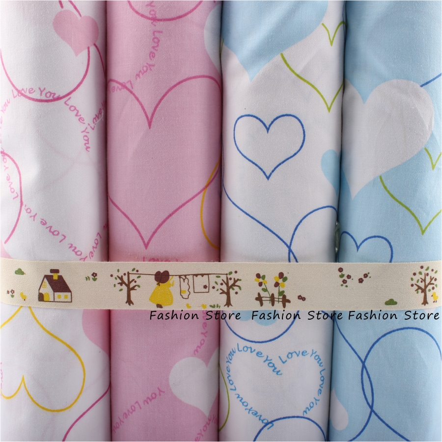 New 4pcs lot 40cmx50cm cartoon baby love series cotton fabric bundle quilting - Lot de tissu patchwork ...