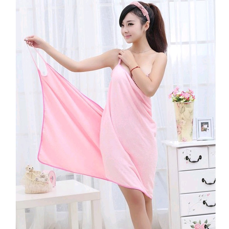 Sexy V Neck Women Bath Towel Soft Wearable Beach Towel Super - Bytový textil