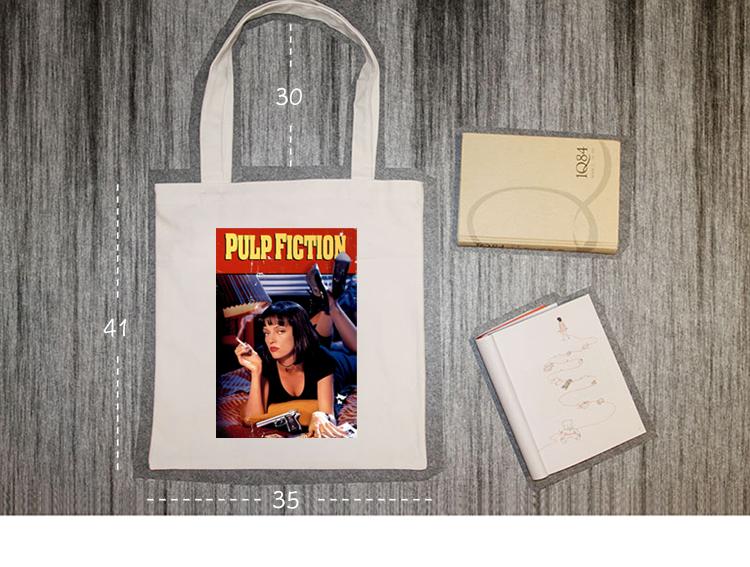 54ea475402a Pulp Fiction Movie Mia Poster Rock Title Vintage Handbag Shoulder ...