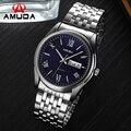 Good Quality Men Watch Luxury Brand Fashion Dress Watch Full Steel Business Wristwatch Silver Sport Male Clock With Calendar