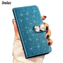 1 flip leather glitter caso telefone para huawei honor 8x luxo de alta qualidade carteira capa suporte caso flash no sol