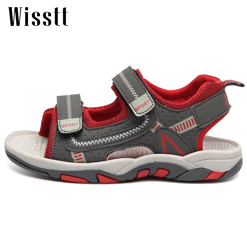 Children Leather Sandals Male Toe Cap Covering Cowhide Kids Sandals Children Baby Toddler Shoes Boys Shoes For Girls