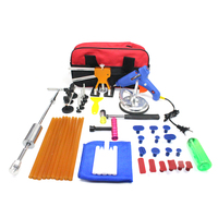 46pcs PDR Tools Paintless Dent Repair Puller Car Auto Hails Removal Dent Lifter T Bar Suction