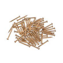 21X2MM Chinese Archaize Round Head Gold Antique Pure Copper Bronze Wooden  Nails 50pcs