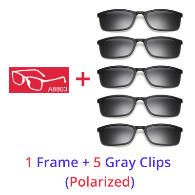f4679f3358 Ralferty Men s Polarized Square Sunglasses Magnetic Clip TR90 Optical  Prescription