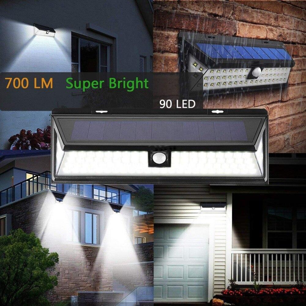 90/118 Led Solar Licht Im Freien Wasserdichte Motion Sensor SMD 2835 IP65 Beleuchtung Decor Garten Licht Solar Powered Sicherheit Lampe