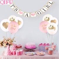 QIFU Oh Baby Boy Party Baby Shower Decoraties Baby Shower Ballonnen Banner Baby Shower Meisje Gunsten Gifts Doop Gunsten Supplies 2