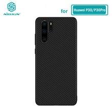 Huawei P30 Pro Case Nillkin Synthetische Fiber Carbon Pp Plastic Ijzer Magnetische Case Voor Huawei P30 Pro Cover