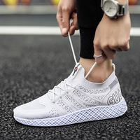 BZBFSKY Spring new fly weaving men's shoes men's sneakers breathable leisure shoes off white shoes brand vip link