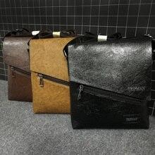 Tripman Mens Messenger Bag PU Leather Fashion Business Crossbody Shoulder Satchels Briefcase Free Shipping KSL509M-T
