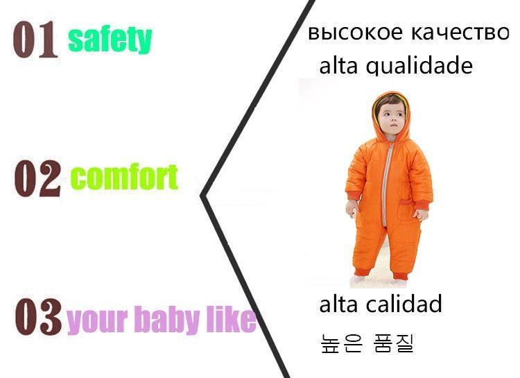 9-24Months Baby Winter Clothes Girl Boy Romper Warm Russian Baby Winter Jumpsuit Skiing Outerwear Clothing Colorful Snowsuit (18)