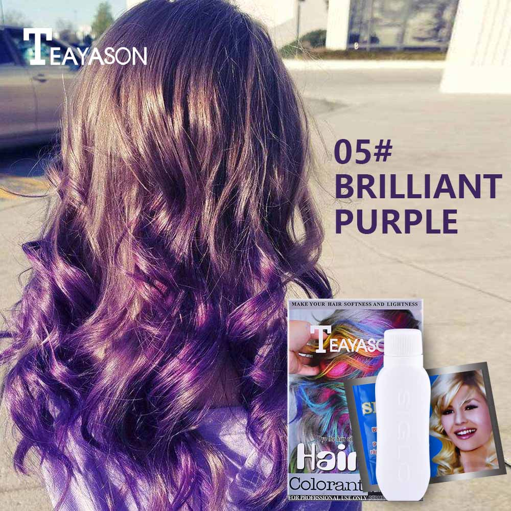 Hair Color Wax Cream Waterproof Long Lasting For A Month Hair Styling Green Purple White Permanent Hair Dye Color Cream AM071
