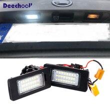 Canbus לבן LED רישיון צלחת מנורה + מפענח עבור סקודה אוקטביה 3 MK3 MKIII 2013 + סדאן קומבי עבור מהיר 2013 + עבור Yeti 5L 2009 +