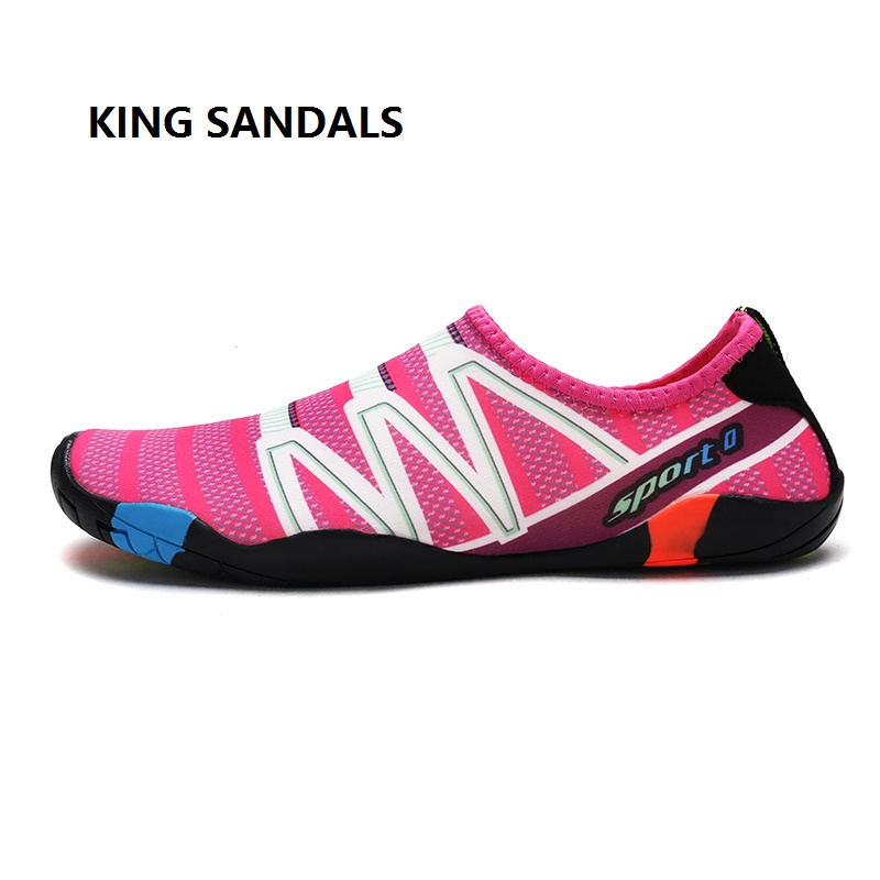 2018 Summer Couple Shoes Water Shoes Outdoor Swimming Beach Unisex Flat Soft Quick Dryin ...