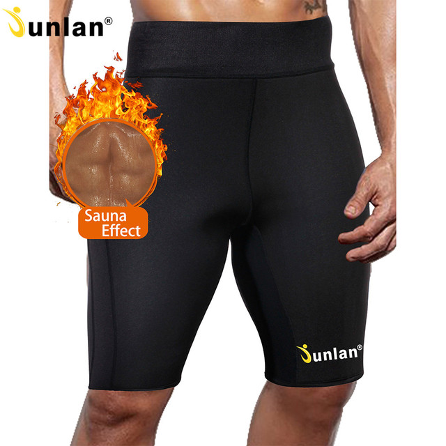 e8358ce8749 Junlan Slimming Shorts for Men Bottom Shapewear for Workout Neoprene Shaper  Elastic Pants Waist Trainer Trousers Body Control