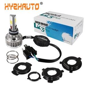 1 шт., светодиодная лампа для мотоцикла H4 Ba20d, 6000K, H6, HS1, 5500LM, 12 В/24 В