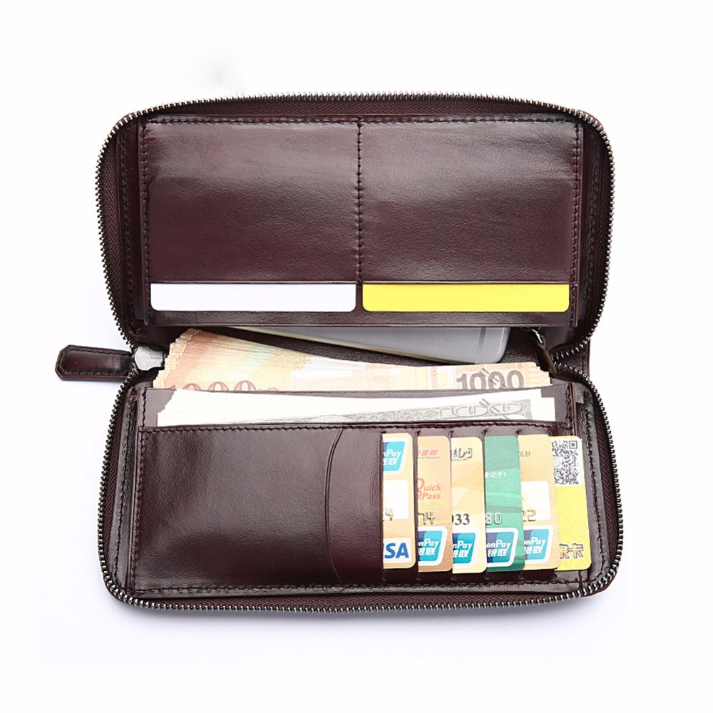 TERSE OEM ODM Service Factory Price Handmade Long font b Wallet b font Genuine Leather Business