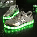 Unisex Women Colorful LED Shoes for Adults USB Charging Light up Glowing Casual Shoes Colorful Simulation Luminous Neon Basket