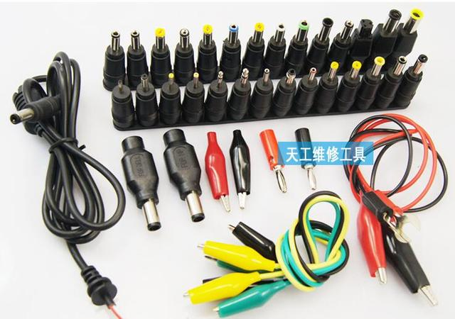 FEORLO 39pcs Universal Laptop DC Power Supply Adapter Connector Plug AC DC conversion head Jack Charger Connectors Laptop Power