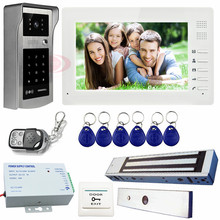 Video DoorPhone Support Password&Code Unlock Magnetic Lock Home Video Intercom System Access Control System Rfid Cards/PassWord